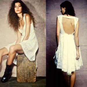 Free People Dress Open Back Special Edition Lace